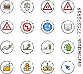 line vector icon set   sign... | Shutterstock .eps vector #775272919