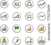 line vector icon set  ... | Shutterstock .eps vector #775273459