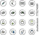 line vector icon set   syringe... | Shutterstock .eps vector #775274089