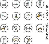 line vector icon set  ... | Shutterstock .eps vector #775274185