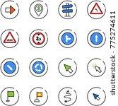 line vector icon set   right... | Shutterstock .eps vector #775274611