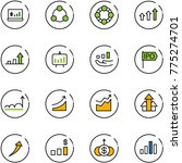 line vector icon set   account... | Shutterstock .eps vector #775274701