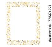 sparkling gold stars frame or... | Shutterstock .eps vector #775276705