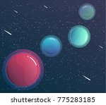 space banner with planets... | Shutterstock .eps vector #775283185