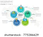 5 parts infographic design... | Shutterstock .eps vector #775286629