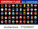 all european country flags...   Shutterstock .eps vector #775290457