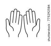 muslim praying hands linear...   Shutterstock . vector #775292584