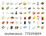 big set of isometric volumetric ...   Shutterstock .eps vector #775293859