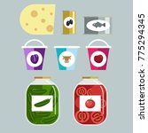 icon set food conserve | Shutterstock .eps vector #775294345