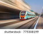 modern intercity train at the... | Shutterstock . vector #775308199