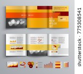 business brochure template... | Shutterstock .eps vector #775308541