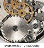 clockwork old mechanical watch  ... | Shutterstock . vector #775309081