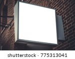 signboard shop  cafe or... | Shutterstock . vector #775313041
