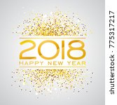 2018 happy new year background... | Shutterstock . vector #775317217
