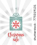 festive christmas banner with a ... | Shutterstock .eps vector #775319131
