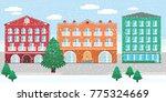 winter city landscape vector...   Shutterstock .eps vector #775324669
