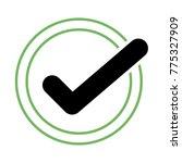 black check mark icon in a... | Shutterstock .eps vector #775327909