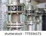 showing metal bolts and machine ... | Shutterstock . vector #775336171