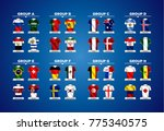 various vector country flags   Shutterstock .eps vector #775340575