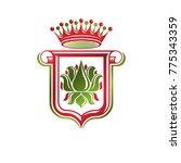 vintage heraldic emblem created ... | Shutterstock .eps vector #775343359