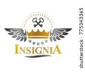 ancient crown emblem. heraldic... | Shutterstock .eps vector #775343365