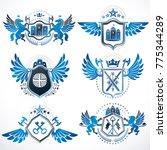 vintage heraldry design...   Shutterstock .eps vector #775344289