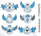 vintage decorative heraldic...   Shutterstock .eps vector #775344295