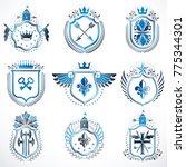 set of vector vintage emblems... | Shutterstock .eps vector #775344301