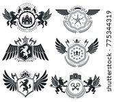 heraldic coat of arms  vintage... | Shutterstock .eps vector #775344319