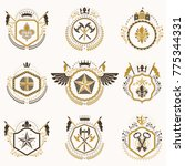 set of vector vintage emblems... | Shutterstock .eps vector #775344331