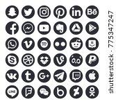 collection of popular social...   Shutterstock . vector #775347247