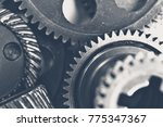 close up view of stack of gears | Shutterstock . vector #775347367
