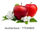 Two Juicy Red Apple With...
