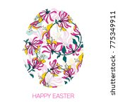easter egg decorated with... | Shutterstock .eps vector #775349911