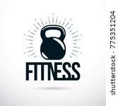 logotype for heavyweight gym or ... | Shutterstock .eps vector #775351204