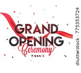 grand opening ceremony poster... | Shutterstock .eps vector #775353724