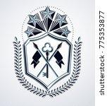 vintage emblem  vector heraldic ...   Shutterstock .eps vector #775353877