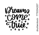 vector poster with phrase and... | Shutterstock .eps vector #775354207