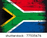 south african flag. a grunge... | Shutterstock .eps vector #77535676
