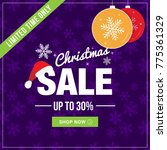 christmas sale limited time... | Shutterstock .eps vector #775361329