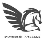 pegasus on a white background | Shutterstock .eps vector #775363321