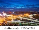 shanghai interchange overpass... | Shutterstock . vector #775363945