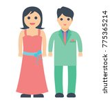 married couple standing with... | Shutterstock .eps vector #775365214
