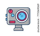 action camera icon. extreme cam ... | Shutterstock .eps vector #775369069