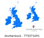 couple set map blue map of... | Shutterstock .eps vector #775371691