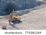 driller in a quarry mine... | Shutterstock . vector #775381249