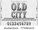 font alphabet script typeface... | Shutterstock .eps vector #775381615