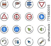 line vector icon set   sign... | Shutterstock .eps vector #775382035