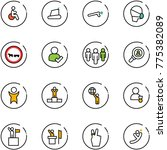line vector icon set   disabled ... | Shutterstock .eps vector #775382089