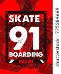 miami skateboarding t shirt... | Shutterstock .eps vector #775384669